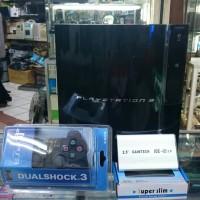 PS3 FAT 40GB+HARDISK 500GB+STIK WIRELESS
