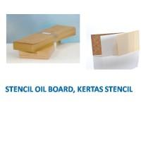 "KERTAS STENCIL, OIL BOARD STENCIL 7"" X 24"""