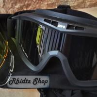 Spy google 3 lensa (kacamata motocross airsoftgun helm motor sport)