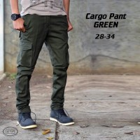 Celana Kargo Panjang Hijau | Cargo | PDL | Army | Chino