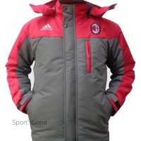 Jaket Hoodie Taslan Waterproof AC Milan Grade A
