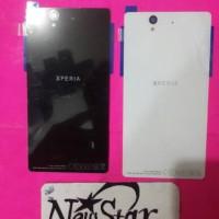 Back Cover Tutup Belakang Casing Sony Xperia Z1 Ori Black White ...