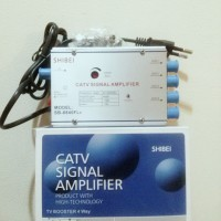 BOSTER ANTENA TV / CATV SIGNAL AMPLIFIER (BOSTER + SPLITTER 4 WAY)