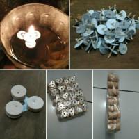 Lilin Apung+sumbu Lilin Set