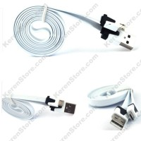 Taff Flat Noodle Charging SYNC Data Micro USB Cable 1m - White