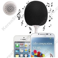 Mini Stereo Speaker Short 3.5mm Audio Jack For Smartphone - Black