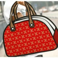harga 3d In 2d Cartoon Bag / 3d Bag / Tas 3d / Tas Kartun - Design 11 / Bowling (red W/ Gold Pattern) - Oem Jump From Paper Tokopedia.com