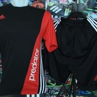 harga Kaos Setelan Adidas Neo Predator Black Red Volly Futsal Murah Grosir Tokopedia.com