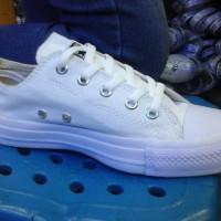 sepatu murah converse polos full putih low + box
