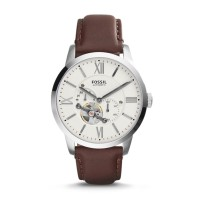 Fossil ME3064 - Jam Tangan Pria Townsman Automatic Brown Leather Watch