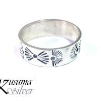 Cincin Ring Perak Silver Bali Motif Kipas Pria Lelaki Wanita asli 925