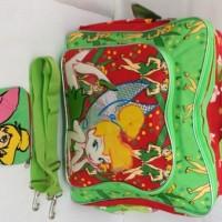 harga Travel Bag/Tas sekolah Tinkerbell Kanvas Warna Hijau (Ransel) Tokopedia.com