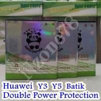 BATERAI HUAWEI Y3 Y5 BATIK Y300 Y500 RAKKIPANDA DOUBLE POWER