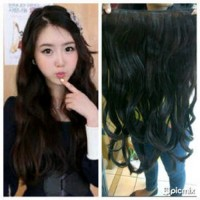 Hair Extension Clip Big 1 Layer Wig Sambung Rambut Palsu High Quality
