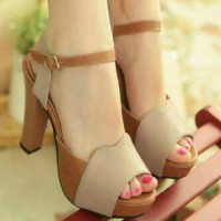 Sepatu Wanita High Heels Cream - HJ010