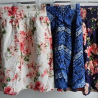 FLOWER FULL COLOR LADIES SKIRT FOREVER 21