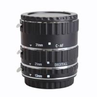 Macro Auto Focus Extension Tube For Canon EOS Camera - Silver