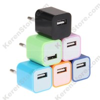 USB Charger (Only Europe Socket Plug) - A1265 - Light Blue