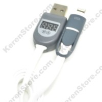 2 In 1 Duo Magic Cable Lightning Micro USB Cable LCD White