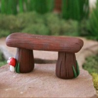 miniature fairy garsen bench dekorasi terarium bangku taman