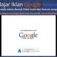 Tutorial Belajar Iklan Google Adwords Bahasa Indonesia