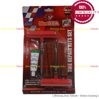 Alat Tambal Ban Tubeless Lengkap 1 Set Anti Bocor