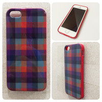 iPhone 5 5S Burberry Red Kotak Softcase Casing Branded Case