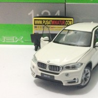 BMW X5 (PUTIH) - SKALA 1:24 - WELLY ( DIECAST - MINIATUR )