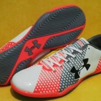 Under Armour Force - White Orange [Sepatu Futsal] [Replika Import]