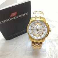 harga Chronoforce Jam Tangan Wanita Strap Rantai Cf 5236l Gold Original Tokopedia.com