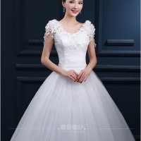 Wedding Dress - Gaun Pengantin Dada Bunga 2016
