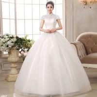 Wedding Dress - Gaun Pengantin Dada Tertutup Bordir 2016