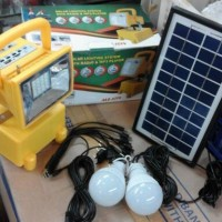 Lampu Sorot Solar Lighting System with Radio / MP3 Player