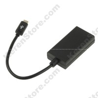 Micro USB To HDMI MHL Adapter Infuse 4G / I997 HTC HD 17cm Black