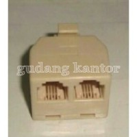 Konektor Adapter Splitter RJ11 (Telepon ADSL) 1 Input Male To 2 Output