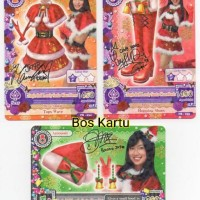 Harga aikatsu promo jkt48 natal set isi 3 kartu   Hargalu.com