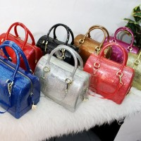 TAS FURLA JELLY CANDY TABUNG GLITTER #vg