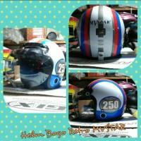 Helm Bogo Retro Klasik MVSTAR Angka 250