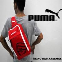 Slingbag/Selempang ARSENAL Merah logo Hitam