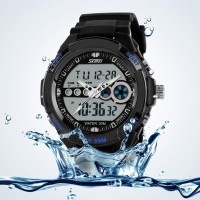 JAM TANGAN DIGITAL + ANALOG CASIO MEN SPORT LED WATCH - SKMEI-0942