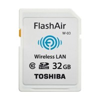 MEMORY CARD TOSHIBA FLASH AIR CLASS 10 32GB WIRELESS LAN SD CARD