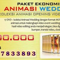 DVD Koleksi Animasi Video Wedding (opening,motion)  (17DVD)