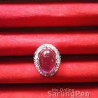Cincin batu Merah Siam emban/ikat/cangkang/ring titanium