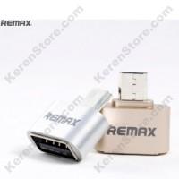 Remax Micro USB To USB OTG Plug For Smartphone - Silver