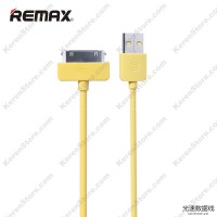 Remax Light Speed 30 Pin Apple Cable For IPhone 4/4s - Yellow
