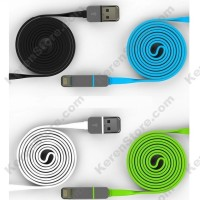 2 In 1 Duo Magic Cable Lightning Micro USB Cable Android Magenta