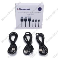 Tronsmart Fast Charging Micro USB To USB 2.0 Cable 1 Meters (3PCS)