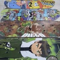 Papan Seluncur Skateboard Anak Ukuran Kecil Motif Kartun