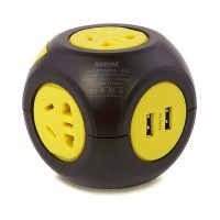 Remax Wired Magic Cube Electric Socket 2500W with 4 USB Charger
