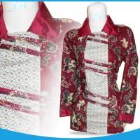 harga K2-015 Pakaian Murah Wanita Batik Blouse Merah (Zalora Batik-Elevenia) Tokopedia.com